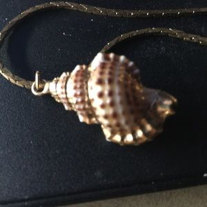 Jewelry - Grand Cayman Shell Necklace-Gold
